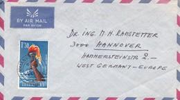 AIRMAIL USED CIRCULEE ARUYA TO WEST GERMAN 1964.TANGANYIKA.-BLEUP - Postzegels