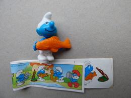 Collector Cadeau Kinder Surprise Réf K02 N°66 Stroumph + Sa Notice - Mountables