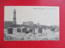 CPA ALLEMAGNE WARNEMUNDE PLAGE ANIMEE PHARE - Rostock