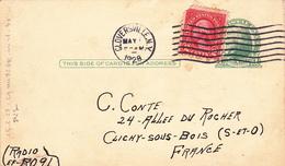 CPA Q.S.L. Carte De Radioamateurs Ancienne U.S.A. Gloversville N.Y. Accusé Réception Codifié (2 Scans) - Cartes Postales