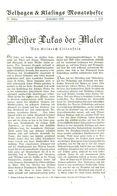 Meister Lukas (Cranach) , Der Maler / Artikel, Entnommen Aus Zeitschrift /1936 - Bücher, Zeitschriften, Comics