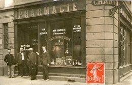 "35-rennes- Carte Photo ""pharmacie Chauvin""rue De Nemours - Rennes"