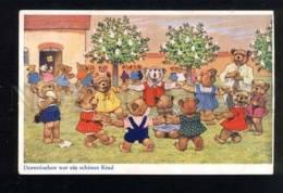 042567 Dancing TEDDY BEAR Kids School By BAUMGARTEN Vintage PC - Baumgarten, F.