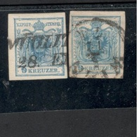 Austria1850:Michel5y (2 Color Varieties) - 1850-1918 Imperium