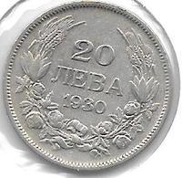*Bulgaria 20 Leva  1930  Km 41  Vf - Bulgaria