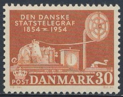 Danmark Denmark Dänemark 1954 Mi 351 YT 351 ** Telegraph Table (1854) / Morseapparat (1854) - 100 Jahre Telegraphie - Telecom