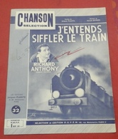 """Partition Richard  Anthony """"J'entends Siffler Le Train"""" Jacques Plante Harold Jeffries - Spartiti"""