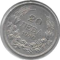 *Bulgaria 20 Leva  1940  Km 47  Xf - Bulgaria