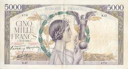 RARE Billet 5000 F Victoire Du 13-10-1938 FAY 45.1 Alph. R.47 - 1871-1952 Frühe Francs Des 20. Jh.