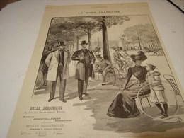 ANCIENNE PUBLICITE MAGASIN BELLE JARDINIERE MODES FRANCAISE 1899 - Habits & Linge D'époque