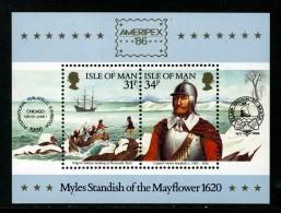 GB ISLE OF MAN IOM - 1986 AMERIPEX MINIATURE SHEET FINE MNH ** SG MS325 - Isle Of Man