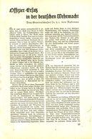 Offizier Ersatz In Der Deutschen Wehrmacht  / Druck, Entnommen Aus Zeitschrift /1936 - Books, Magazines, Comics