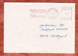 Brief, Francotyp-Postalia F22-0345, Kreiskrankenhaus, 100 Pfg, Schopfheim 1996 (51819) - Poststempel - Freistempel