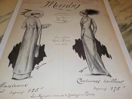 ANCIENNE PUBLICITE MAISON  MANBY MANTEAUX   1912 - Other