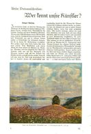 Wer Kennt Unsere Kuenstler (Gemälde Raten)   / Artikel, Entnommen Aus Zeitschrift /1936 - Bücher, Zeitschriften, Comics