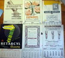 """6 Buvards Anciens Produits Pharmaceutiques - LABORATOIRES """"ANA"""" Dr VENDEL Paris CALENDRIERS 1934/1950/1952/1961 - Chemist's"""