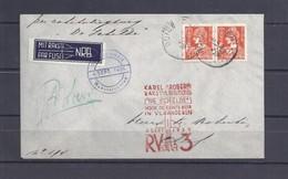 Belgium 1st ROCKET FLIGHT LETTER 1935-Signature Roberti Handtekening-EXPLOSION DAMAGE Cancel On Backside-Signed ROBERTI- - Erinnophilie