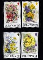 GB ISLE OF MAN IOM - 1987 WILD FLOWERS SET (4V)  SG 354-357 FINE MNH ** SG 354-357 - Isle Of Man