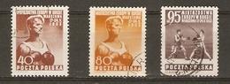 Pologne 1953 - Championnats D'Europe De Boxe à Varsovie - Série Complète° 706/8 - 1944-.... République