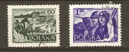 Pologne 1954 - Anniversaire De La Bataille De Studzianki - Série Complète ° - 761/62 - Soldats - Chars - 1944-.... Republiek