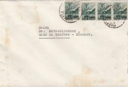 ITALIEN 194? - 4 Fach MEF Auf Brief, Gebrauchsspuren - Ganzsachen