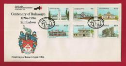 ZIMBABWE, 1994, Mint FDC, Centenary Of Bulawayo,, 520-525 - Zimbabwe (1980-...)