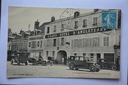 Grand Hotel D'angleterre-G.Coursimault-proprietaire-ROMORANTIN-voitures Anciennes En Beau Plan - Romorantin