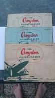 Serie Plaatjesalbum Van Croydon Vliegtuigen 1 - 2 - 3  Used  See The 2  Scans For Condition. ( Originalscan !!! ) - 1946-....: Era Moderna