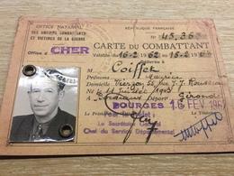 Carte Du Combattant 1962 - Documents