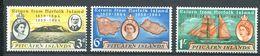 229 PITCAIRN 1961 - Yvert 32/34 - Carte Bateau Voilier - Neuf **(MNH) Sans Trace De Charniere - Pitcairn Islands