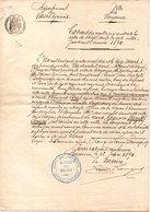 64 - BAYONNE . ÉTAT CIVIL . ACTE DE DÉCÈS D'ÉDOUARD PÉRET LE 15 MARS 1890 - Réf. N°55F - - Manuscripts