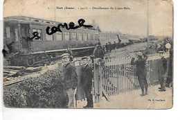 80 NESLE CHEMIN FER TRAIN  DERAILLEMENT DU CALAIS BALE 1903 - Nesle