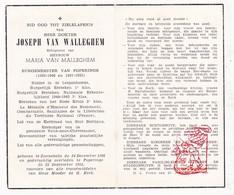 DP Foto - OorlogsBurgemeester Joseph Van Walleghem ° Zonnebeke 1886 † Poperinge 1955 X M. Van Malleghem - Devotion Images