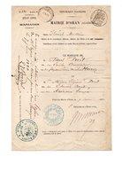 ALGÉRIE . ORAN . ÉTAT CIVIL . ACTE DE MARIAGE DE PAUL PÉRET ET MARIE EUGÉNIE PÉRET LE 7 JUIN 1880 - Réf. N°56F - - Manuscripts