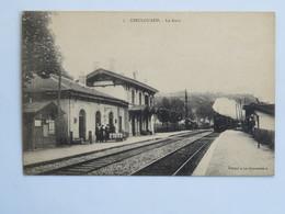 C.P.A. : 54 DIEULOUARD : La Gare,  Train à Vapeur, Animé, En 1914 - Altri Comuni
