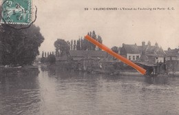 VALENCIENNES - L'Escaut Au Faubourg De Paris - Superbe Carte Circulée En 1909 - Valenciennes