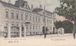 BADEN (NÖ) - Villa Jellinek-Mercedes, Karte Um 1899, Gute Erhaltung - Baden Bei Wien