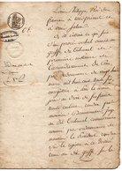 64 - PAU . PROCÈS VERBAL OUVERT AU GREFFE DU TRIBUNAL DE PAU LE 11 AOÛT 1837 - Réf. N°1M - - Manuscripts