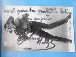 Carte Dédicacée Johnny Hallyday - Zangers En Musicus