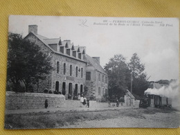 Carte Postale Perros Guirec Train Hotel Troadec - Perros-Guirec