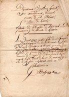 64 - SAINT-PALAIS . GARRIS . ÉTAT CIVIL . ACTE DE BAPTÊME DE MATHIEU D'ETCHESSARRY LE 29 AVRIL 1717 - Réf. N°57F - - Manuscripts