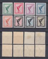 GERMAN REICH 1926 Air Mail Mint * C27-C34 (Mi.378-384) - Germania