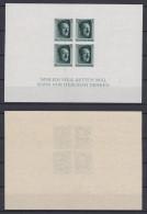 GERMAN REICH 1937 Hitler Birthday Sheet Imperf. Mint ** B103 (Mi.647 Block8) - Germania