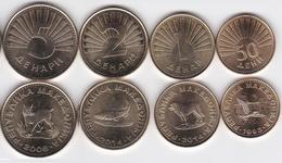 Macedonia - 50 Deni 1 2 5 Denari 1993 - 2014 UNC Set 4 Coins Ukr-OP - Macedonia