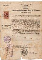 59 - DOUAI . ÉTAT CIVIL . ACTE DE NAISSANCE D'ÉDOUARD PÉRET LE 29 SEPTEMBRE 1818 - Réf. N°59F - - Manuscripts