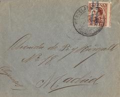 1932 , GUADALAJARA , SOBRE CIRCULADO , HIEN DE LA ENCINA - MADRID - Storia Postale