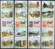 Kunst Der Maya Entdeckung Amerika 1986 Kuba 3042/61 Als 4xZD O 7€ Stamp On Stamps 500 Year New America Se-tenant Bf Cuba - Variétés & Curiosités