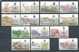 229 SAINTE HELENE 1971 - Yvert 230/42 + 233 A (Decimale) - Scene De Vie (Fleur Bateau ...) - Neuf **(MNH) Sans Charniere - Saint Helena Island