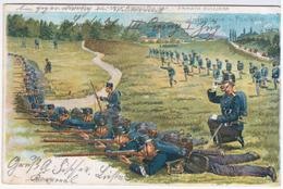 Switzerland Swiss Schweiz Svizzera Helvetia 1903 Armee Armata, Infanterie Fanteria Military, Canceled In Thalwi, Liestal - Altri
