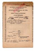 75 - PARIS . EXPOSITION UNIVERSELLE DE 1900 . CERTIFICAT D'ADMISSION . M. ALFRED LOREAU - Réf. N°2M - - Unclassified
